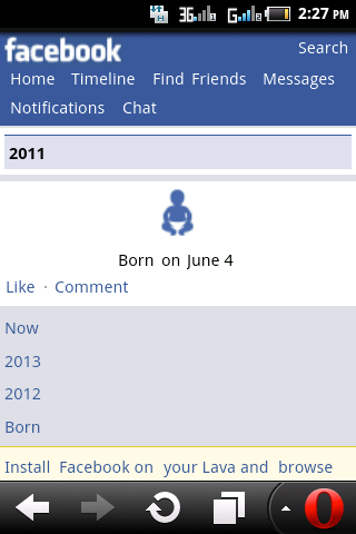 Facebook thinks that I am just 2 years ;-)