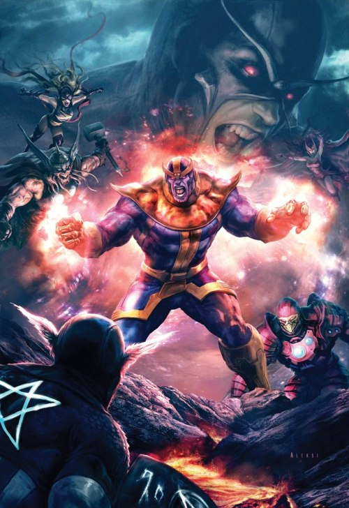 Thanos and the the Avengers