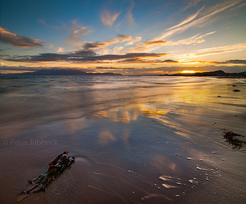 forbiddenforrest:  Sunset on Seamill beach 17-15-13 by Peter Ribbeck on Flickr.