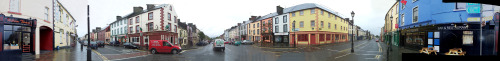 360° view showing Main Street & Market Street Swinford (Taken April 2005)