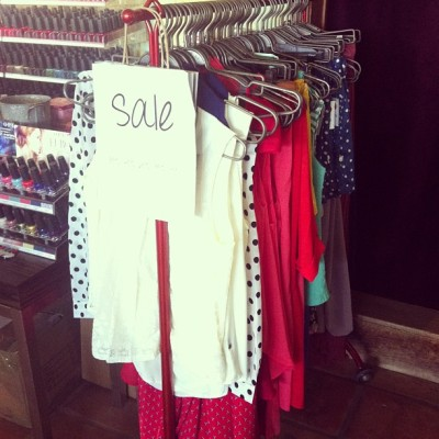 Sale sale sale! #spring2013 apparel is here so we're clearing out our #spring and #summer2012 at ridiculous prices! #atown #austin #retail #boutique #store #clothes #apparel #sale #shopping #shoplocal