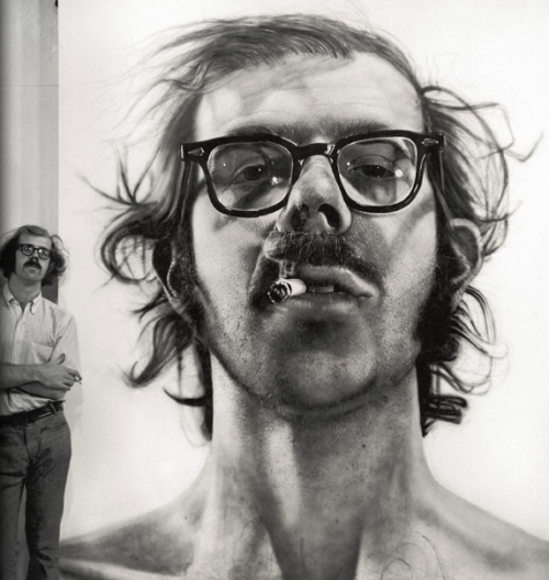 svdp:  self Portrait - acrylic on canvas painting by Chuck Close