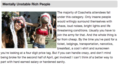 8 More Types of People at Coachella Celebrities are normal people and do drugs at Coachella just like the rest of us.