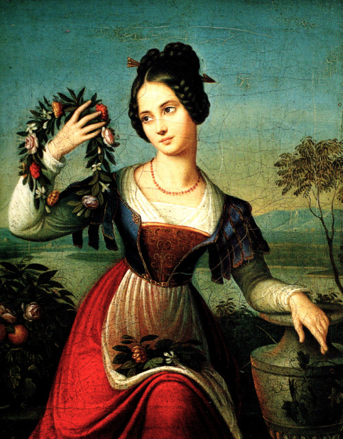 Caroline Bardua (1781-1865) Flora, or the wreath maker
