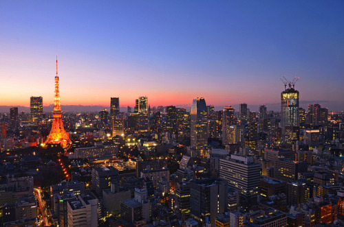 heartisbreaking:  Tokyo Magic hour by Jasmin・゜゜・*: on Flickr.