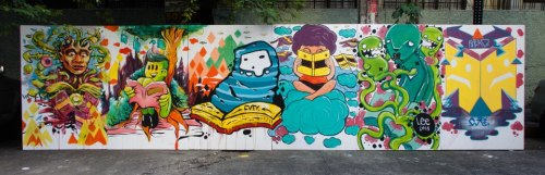 Cavity / MST  Book Worms Rai Cruz X Quatro X Qudo X Buko X Lee X Paksiw Live art at ST.Paul Manila. 2013
