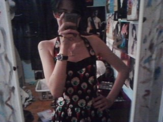 Also let's all appreciate my new eyeball print Hell Bunny dress Because it is great