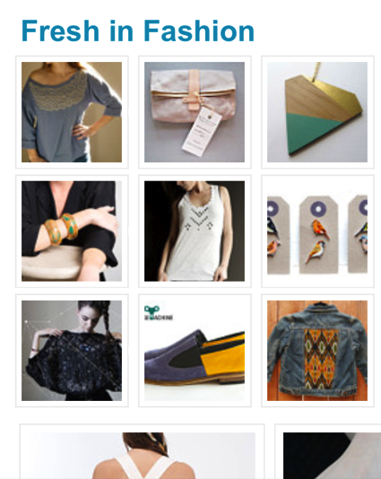"GULL + MARIE was featured on the latest Etsy ""Fresh Shops"" Etsy Finds email blast today! Check it out by clicking on the above photo!! Thank you Etsy!"