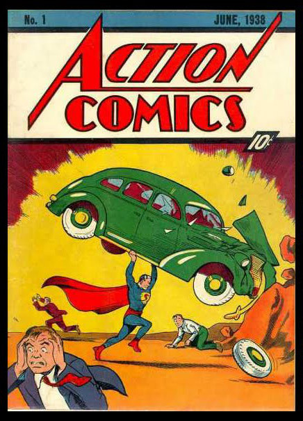 thechronologicalsuperman:  Seventy-five years ago today, Superman debuted in the pages of Action Comics #1 (cover dated June 1938), introducing the Man of Steel, Clark Kent and Lois Lane to the world, courtesy of Jerry Siegel and Joe Shuster.  This also marks the one-year anniversary of this blog! In the last twelve months, I've managed to catalog Superman's story as it's played out in two ongoing comics, a radio serial, both the daily and Sunday newspaper and a handful of assorted appearances, and that still only takes us up through late 1940!  Many thanks to the almost-12,000 (!!) followers of The Chronological Superman. I'm super-pleased that you're all along for the ride.
