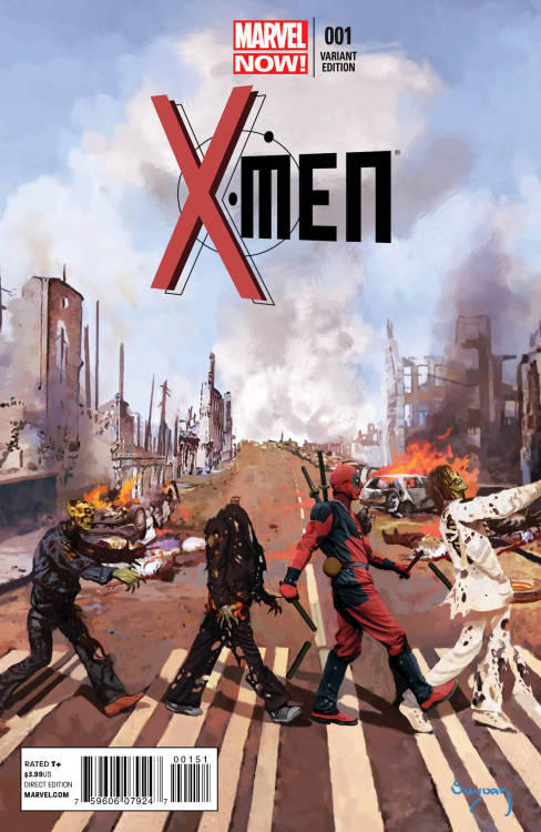 herochan:  Sneak Peek: X-Men #1 Deadpool Variant Cover by Arthur Suydam