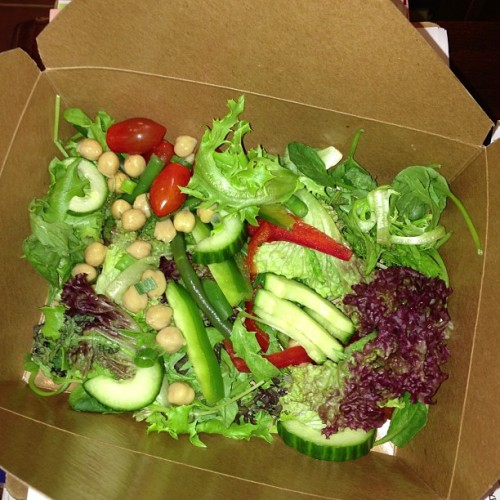 #Salad in the box is what's for dinner. #Greens #healthy