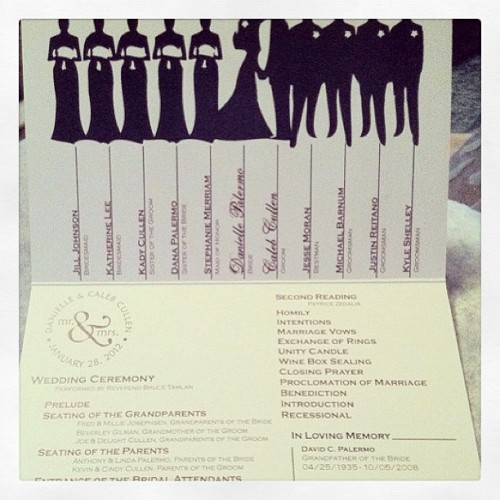 #bellestylebridal #ceremony #program #idea #inspiration #bridal #party #remembering #stlbrides #destination #wedding #love  (at bellestyle.onsugar.com)