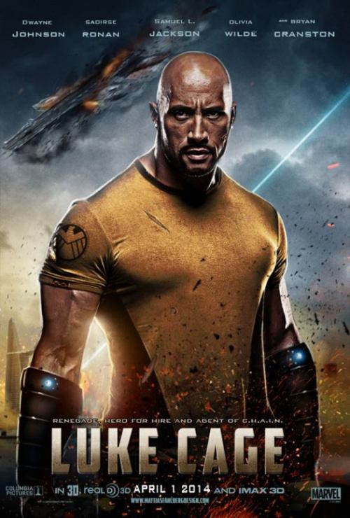 "comicimpact:  Dwayne ""The Rock"" Johnson As Luke Cage."