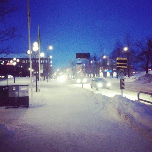 Snowy Night in Umeå (at Umeå)