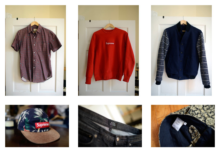 This morning I decided to take photos of clothes I don't wear much and put them up for sale. Click the photo or HERE to see what I got so far.