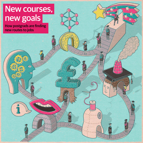 New routes to jobs for postgrads Client:  The Guardian