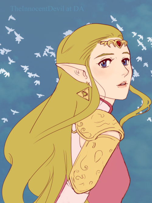 zelink-fans:  Zelda by ~TheInnocentDevil