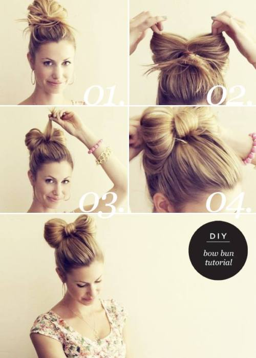 hairstyle hair hacks easy hairstyles hair bow bow bun diy hair diy hairstyle long hair style