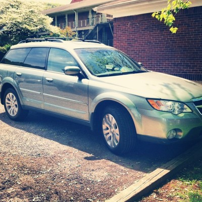 My new #whip #subaru #outback #2009 #hippie #love