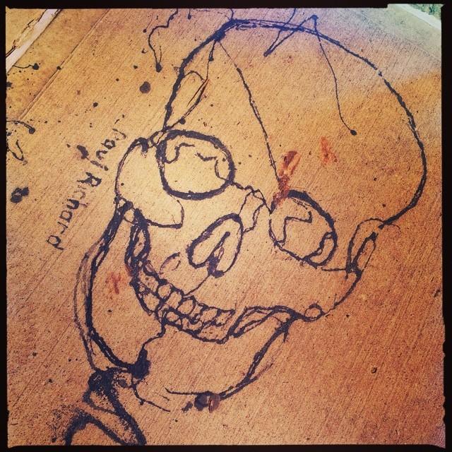 Paul Richard - skull. #greenpoint #bk #brooklyn #art #streetart #urbanart