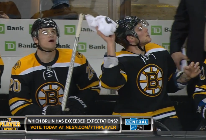 the bruins bench, ladies and gentlemen