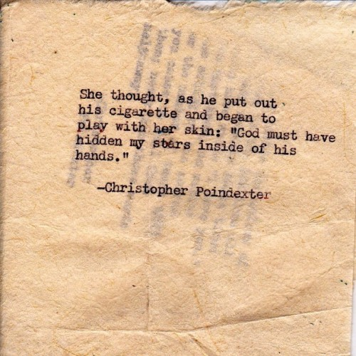 "christopherpoindexter:  ""Their tears were their love"" series poem #30 #poetry #poem #art #artist #love #typewriter #stars #words #writinf"