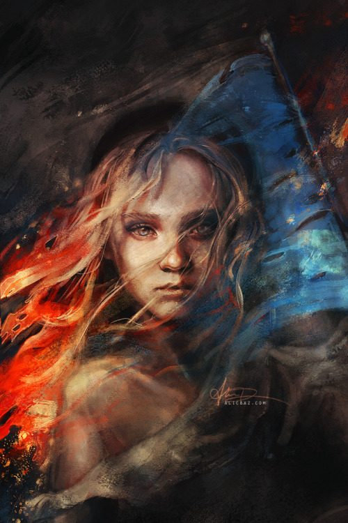 Do you hear the people sing? I painted a concept of the Les Misérables film poster by reimagining it as the iconic logo of the original musical. Print is available at my Society6 shop!