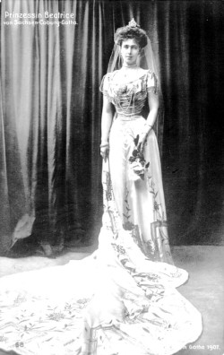 Pss Beatrice of Saxe Coburg and Gotha , later Duchess of Galliera. 1907