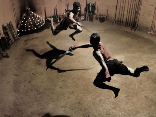 Kalaripayattu Fighters, India (by Armand Poblete; via National Geographic)