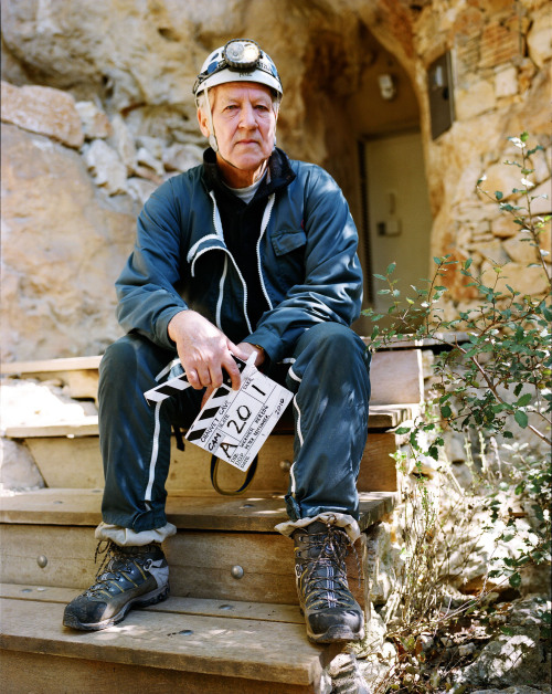 fuckyeahdirectors:  Werner Herzog while making Cave of Forgotten Dreams (2010)
