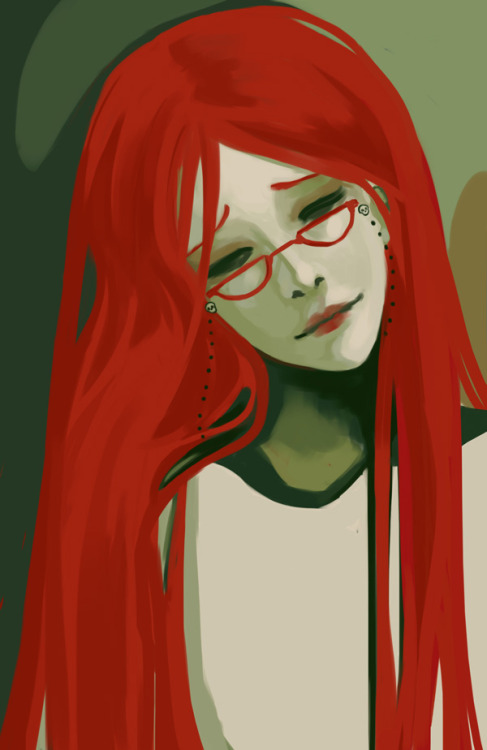 I was not completely happy with the Grell I painted the other day. So here, have another one.