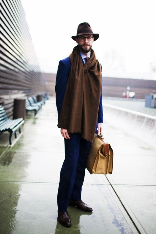 iqfashion:  Simon Crompton Source: wwd.com  Styled against the elements.