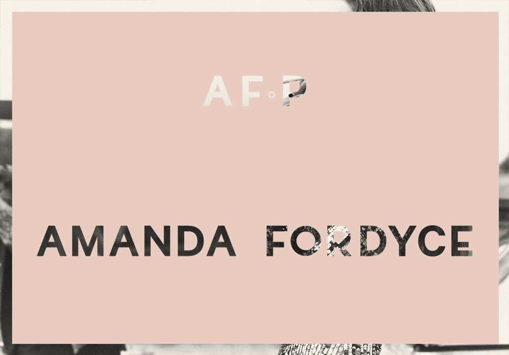 Identity for Australian photographer Amanda Fordyce