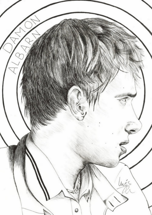 weird-at-heart: Damon Albarn I made this drawing for Rachel <3