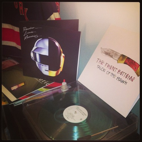 lalalaheath:  Tuesday means new records. #daftpunk #thefrontbottoms