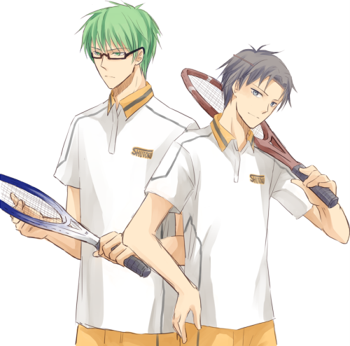 annciel7:  I love the AU idea of the KuroBasu guys playing a different sport! I think MidoTaka would make a great duo for doubles haha