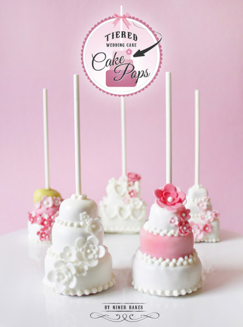 thecakebar:  How to Make Tiered Wedding Cake Cake Pops {click link for full tutorial} This is also cute for a sweet 16 or fancy anniversary party