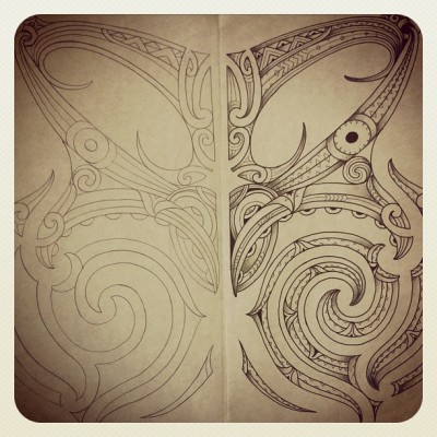 toiariki:  Drawing from 10 years ago  #tamoko #toiariki #moko #maori #artist #richiefrancis