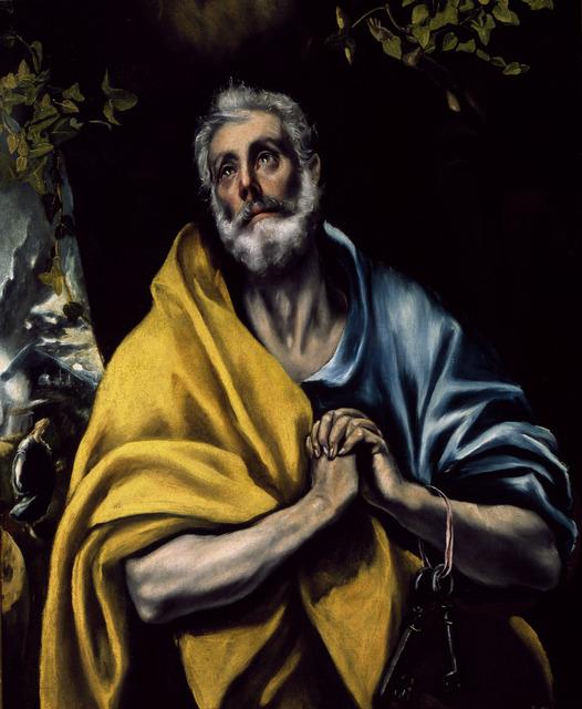 El Greco (1541-1614) - Tears of St. Peter #art#visual#art pieces#paintings #El Greco (1541-1614) - Tears of St. Peter