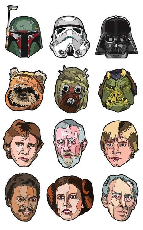 somewhereontheiceplanet:  Star Wars Portraits by Danilo Agutoli
