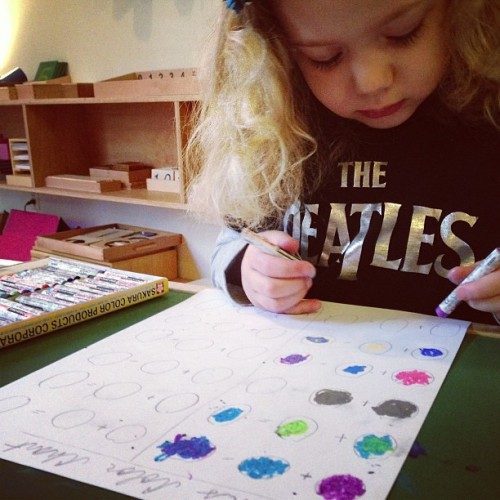 Another color chart in the works. #montessori