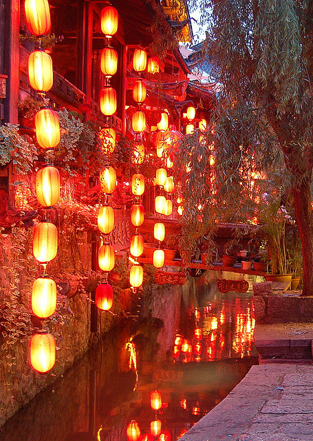 Lanterns, Lijiang, Yunnan, China photo via hanna