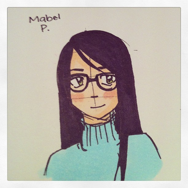 Mabel Pangulayan, book nerd and supporting friend character! #skywriter #comic