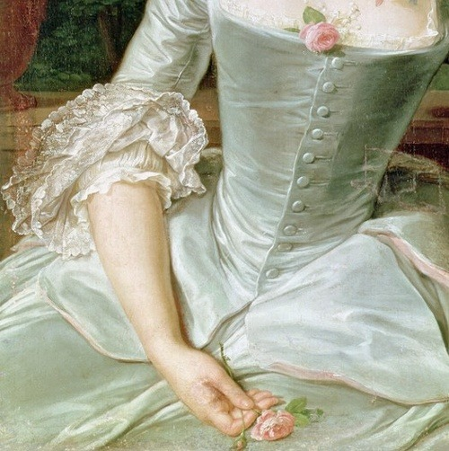 soyouthinkyoucansee:  Dress Detail from Jeanne Antoinette Poisson by François Hubert Drouais