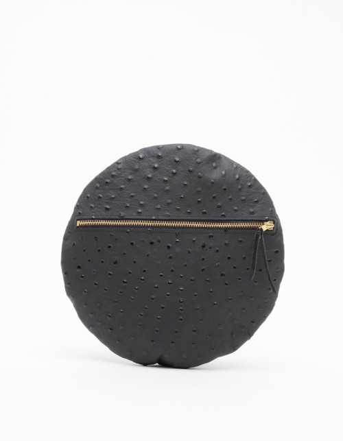 wantering:  Ann-Ya Black Ostrich Sphere Clutch