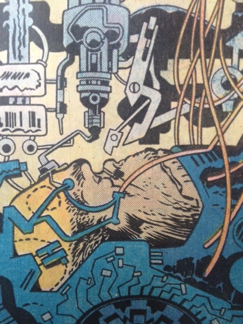 Panel from an issue of Jack Kirby's Eternals I believe.