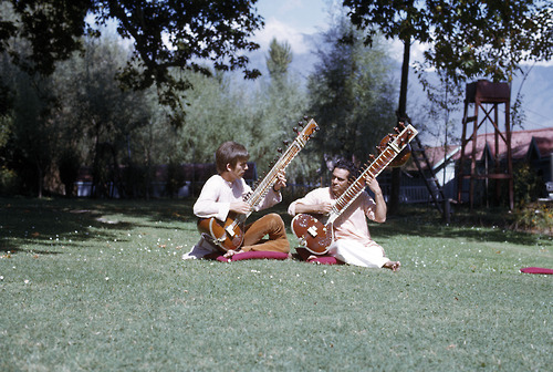 RIP Ravi Shankar. I would never of even heard enough Sitar to think about learning to play one if wasn't for Ravi, then George….