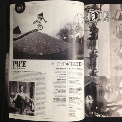 @pipe_litw love/hate feature in @rideukbmx #176 | June 2013 #bmx #stolenbmx