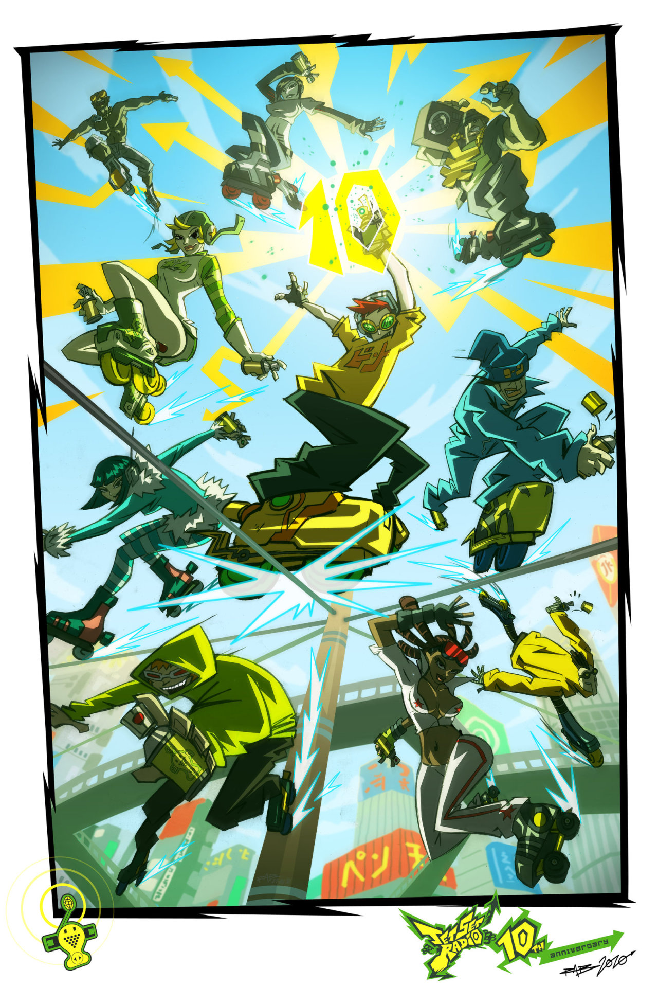 JET SET RADIO 10 - REDUX by *ArkadeBurt