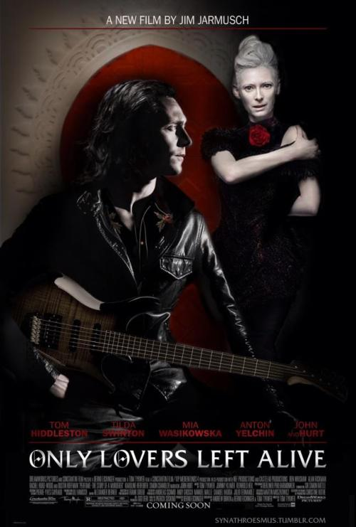 doormouseetcappendix:  Loki and Tilda Swinton are rock and roll vampires! should be fun.